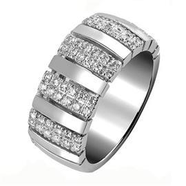 Обручальное кольцо с бриллиантами, артикул R-1576