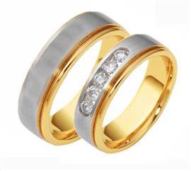Обручальные кольца эксклюзивные дизайнерские белое и розовое золото, артикул R-ТС 1637-3