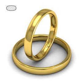 Обручальное кольцо классическое из желтого золота, ширина 3 мм, комфортная посадка, артикул R-W335Y