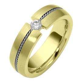"""Обручальное кольцо с бриллиантом серии """"Diamond"""" из золота 585 пробы, артикул R-1563"""