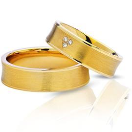 """Обручальные кольца парные из золота 585 пробы серии """"Twin Set"""", артикул R-ТС 1703"""