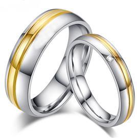 Обручальные кольца парные с бриллиантами из золота 585 пробы, артикул R-ТС AL2305