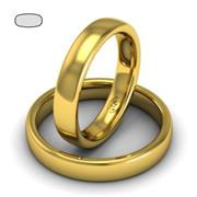 Обручальное кольцо из желтого золота, ширина 4 мм, комфортная посадка, артикул R-W345Y