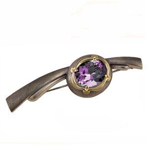 Брошь Овал 10х8 серебро 925°, арт. R-401102