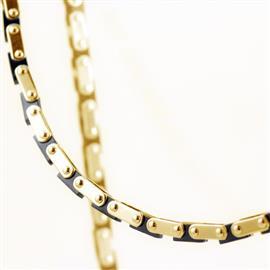 Браслет из желтого золота со вставкой оникса ручной работы, артикул R-IT-21,5-1М