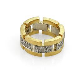 Эксклюзивное обручальное кольцо с бриллиантами из золота 585 пробы, артикул R-А2467