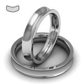 Обручальное кольцо из платины, ширина 4 мм, комфортная посадка, артикул R-W849Pt