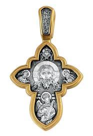 Крест нательный православный Спас Нерукотворный, Успение Божией Матери, артикул R-101.202