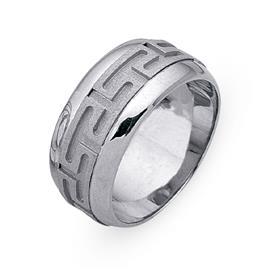 Обручальное кольцо из двухцветного золота 585 пробы, артикул R-СЕ038