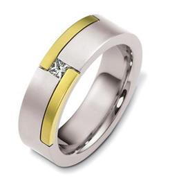 Эксклюзивное обручальное кольцо с бриллиантами из золота 585 пробы, артикул R-А6103