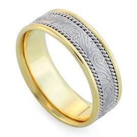 Обручальное кольцо из золота 585 пробы, артикул R-V1027