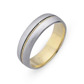 Обручальное кольцо из двухцветного золота 585 пробы, артикул R-СЕ036