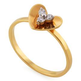Кольцо из розового золота 750 пробы с 3 бриллиантами 0,08 карат, артикул R-556-130