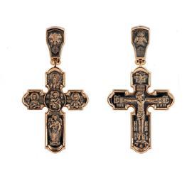 Крест православный нательный  Распятие Иисуса Христа, артикул R-КС1-3087-3