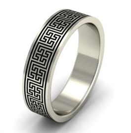 """Эксклюзивное обручальное кольцо ручной работы из  коллекции """"Илиада"""", артикул R-MD76652"""