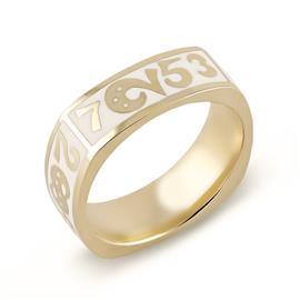 Кольцо с эмалью  из желтого золота 750°, артикул R-GT-1э (326093)