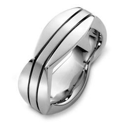Эксклюзивное обручальное кольцо из золота 585 пробы, артикул R-A2583