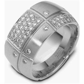 Обручальное кольцо с бриллиантами из золота 585 пробы, артикул R-2099-2