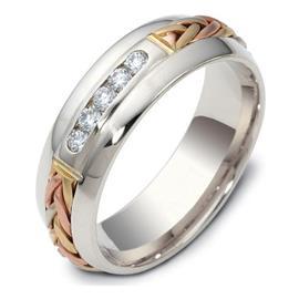 Обручальное кольцо из золота 585 пробы с бриллиантами, артикул R-2117
