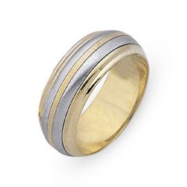 Обручальное кольцо из двухцветного золота 585 пробы, артикул R-СЕ037