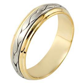 Эксклюзивное обручальное кольцо из золота 585 пробы, артикул R-H1071