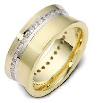 Обручальное кольцо с бриллиантами из золота 585 пробы с бриллиантами, артикул R-2019