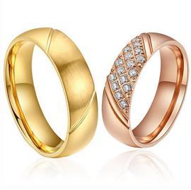 Обручальные кольца парные с бриллиантами из золота 585 пробы, артикул R-ТС AL2311-3