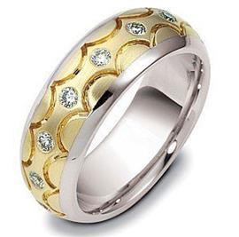 "Обручальное кольцо с бриллиантами из золота, серия ""Diamond"", артикул R-2216/001"