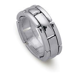 Обручальное кольцо из белого золота 585 пробы, артикул R-ДК 002