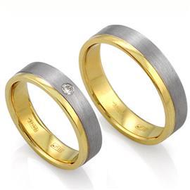 Классические обручальные кольца из золота 585 пробы, артикул R-ТС L1920