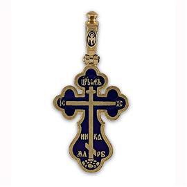 Крест православный с надписями  Иисус Христос, Царь Славы, Спаси и сохрани, артикул R-РКс1602-1