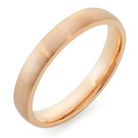 Облегающее обручальное кольцо  с матовой поверхностью из розового золота, артикул R-1201-03м