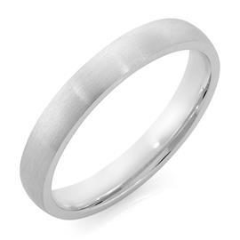 Облегающее обручальное кольцо с матовой поверхностью из белого золота, артикул R-1201-02м