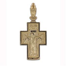 Крест православный  Распятие Иисуса Христа, Богоматерь Великая Панагея, артикул R-РКс1604-1