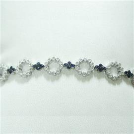 Браслет с бриллиантами и сапфирами, артикул 3636