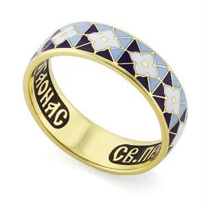 Венчальное кольцо с молитвой к преподобному Серафиму Саровскому, арт. R-КЗЭ0303