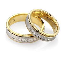 Эксклюзивное обручальное кольцо с бриллиантами из золота 585 пробы, артикул R-С1571