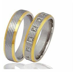 """Обручальные кольца парные с бриллиантами серии """"Twin Set"""", артикул R-ТС К028"""