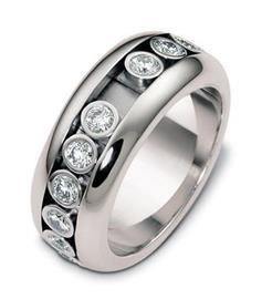 Эксклюзивное  крутящееся обручальное кольцо с бриллиантами из золота 585 пробы, артикул R-А2534