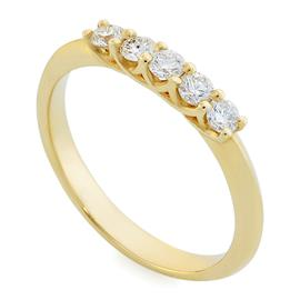 Кольцо с 5 бриллиантами 0,29 ct 3/6 желтое золото 585°, артикул R-R0047W