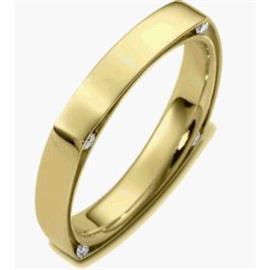 Обручальное кольцо с бриллиантами из золота 585 пробы, артикул R-2450-1