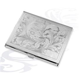 Серебряный портсигар Морозный натюрморт, артикул R-287