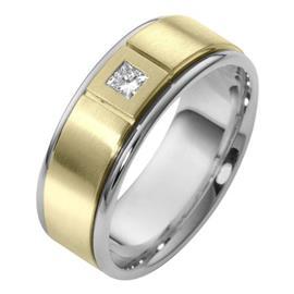 Элегантное обручальное кольцо с бриллиантом, артикул R-2375e