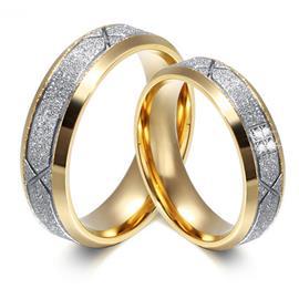 Обручальные кольца парные с бриллиантами из золота 585 пробы, артикул R-ТС AL2317-12