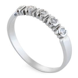 Кольцо с 6 бриллиантами 0,19 ct 3/6 из белого золота 750°, артикул R-6412