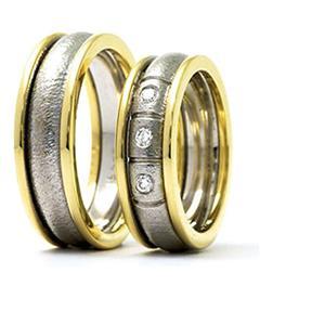 Дизайнерские обручальные кольца парные, арт. R-ТС 4265 we