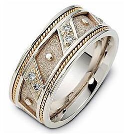 Обручальное кольцо из золота 585 пробы с 12 круглыми бриллиантами, артикул R-1624