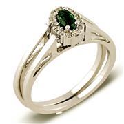 Кольцо-трансформер из белого золота 585 пробы с 30 бриллиантами 0,23 карат, рубином и изумрудом, артикул XRO9091