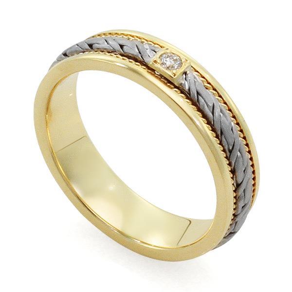 Обручальное кольцо с бриллиантами, арт. . R-L 1912. Непревзойденность стиля обручального кольца притягивает любой