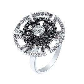 Кольцо с 109 бриллиантами 0,60 ct 4/6, из белого золота 585°, артикул R-08100471282